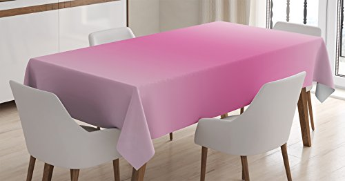 (Ambesonne Ombre Tablecloth, Medieval Fairytale Style Cotton Candy Inspired Girly Design Digital Modern Artwork Print, Dining Room Kitchen Rectangular Table Cover, 60