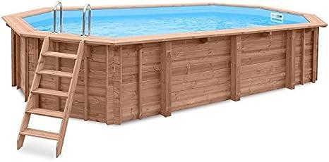 Jardín Piscina Ocean Wave, piscina a y 96188, madera, Gabriella Piscina, 7,27X 3,96X 1,38m, Bomba, Pool Escalera, Skimmer