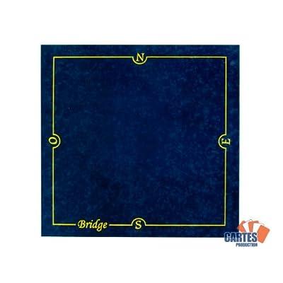 Tapis Bridge CARTES PRODUCTION (77/77 cm) Bleu