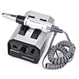 MelodySusie Professional Electric Nail Drill - Polishing Machine Tools, Professional Manicure Pedicure Kit Low Noise Low Heat Nail File Set for Home and Salon Use, Shine Silver