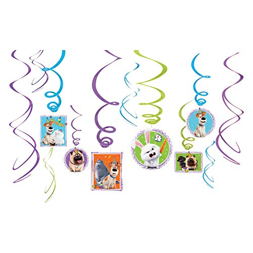 The Secret Life of Pets 2 - Value Swirl Decorations (Secret Life Of Pets Birthday Party Invitations)