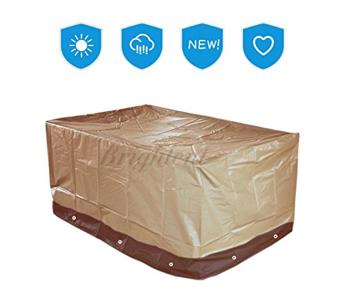 "UPC 600736818865, Deluxe Heavy Duty Waterproof Protection Patio Furniture Cover for Rectangular or Round Table (67""L37""W28""H--XS15P)"