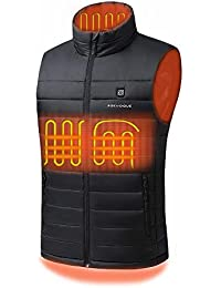 [2019 Upgrade] Men's Heated Vest with Battery Pack, YKK Zippers and Water&Wind Resistant