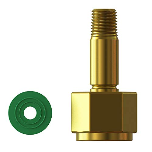 CGA-320 Nut, Nipple and Washer. Carbon Dioxide Tank Fitting, CO-2, CO-3 ()