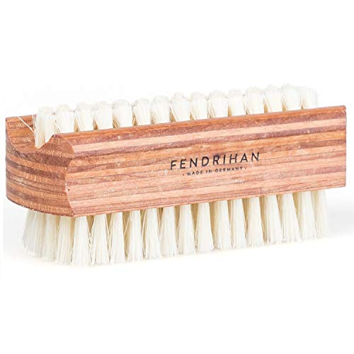 Fendrihan Dual Sided Wood Nail Brush with Pure Boar Bristles 3.7'' (Made in Germany) by Fendrihan