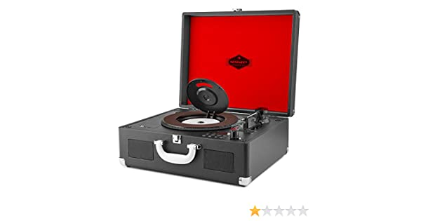auna Peggy Sue CD - Tocadiscos Retro , Negro: Amazon.es ...