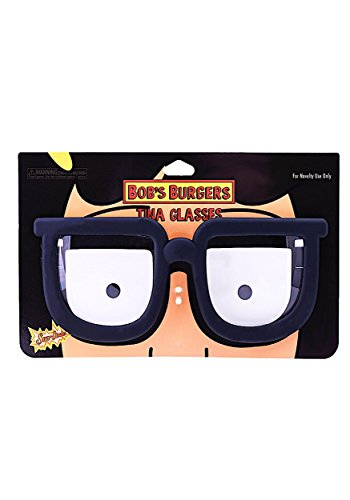 Costume Sunglasses Bobs Burgers Tina Belcher Sun-Staches Party Favors ()