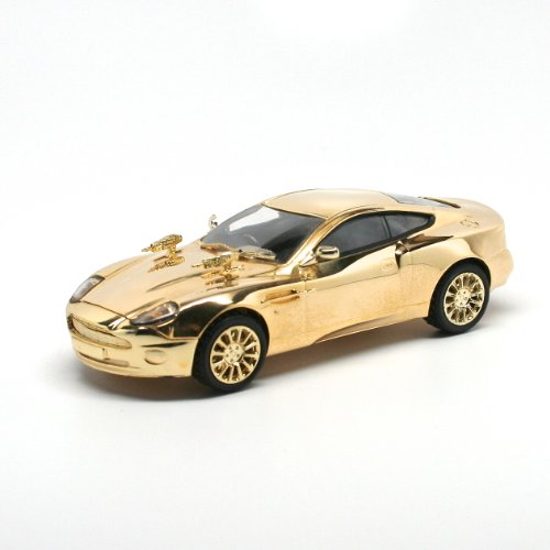 (GOLD-PLATED ASTON MARTON V12 VANQUISH / DIE ANOTHER DAY JAMES BOND / 007 40TH ANNIVERSARY 2005 Corgi Classics 1:36 Scale Die-Cast Vehicle)