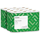 Amazon Brand - Solimo Basic Flex-Sheets Paper Towels, 12 Value Rolls, White, 148 Sheets per Roll (New Version): more info