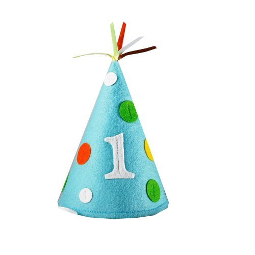 Creative Converting Sweet at One Boys Felt Party Hat, Child Size (Boys 1st Birthday Party Hat)