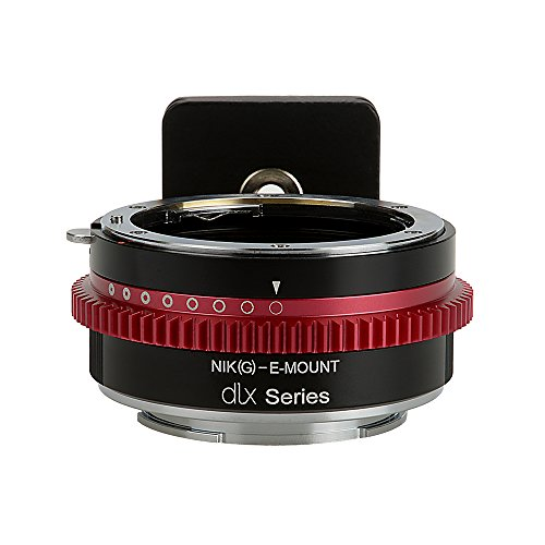 Fotodiox DLX Series Lens Adapter, Nikon G Lens to Sony Alpha E-Mount Mirrorless Cameras APS-C & Full Frame