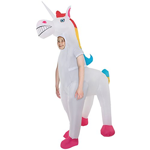 Kids Unicorn Giant Inflatable Costume Blow Up Fancy