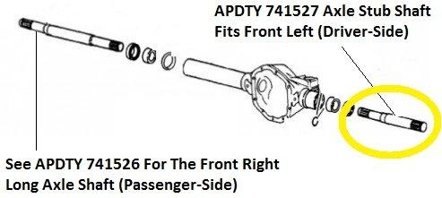 41GVaQjw3 L amazon com apdty 741527 front axle short stub shaft fits front left