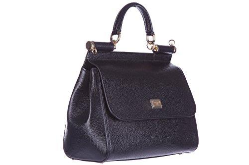 Femme amp;Gabbana Or cmEU et main Noir Dolce Sac BB6002A100180999 à 10x20x25 Noir Cuir SFnqO