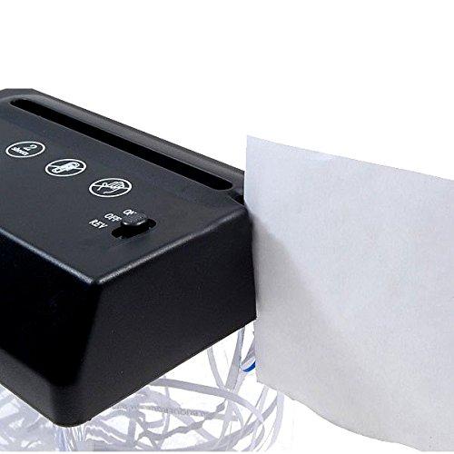 Cikuso Mini trinciatrice USB tagliata a strisce di carta piegata A5 o A4 del desktop per la casa//ufficio