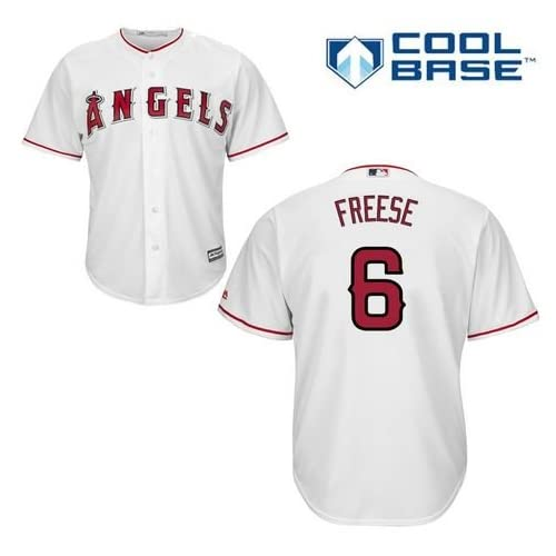 good David Freese Los Angeles Angels of Anaheim  6 MLB Men s Cool Base Home  Jersey 9ac0c665f