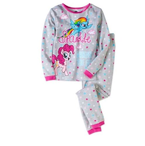 My Little Pony Movie Girls Pajamas Thermal Fitted Pant Long Sleeve Set (8)