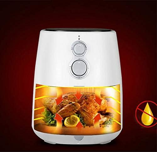 ZZHMW Friteuse électrique à air chaud 3,5 Qt four sans huile préchauffage, commande par bouton LED, panier antiadhésif, 1300 W.