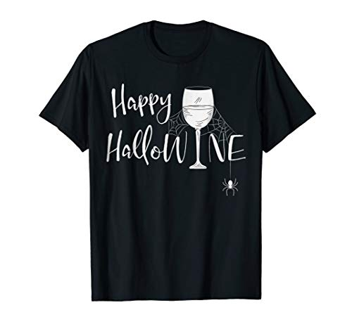Hallowine Halloween Shirt Funny Witches Squad Party Tee Gift