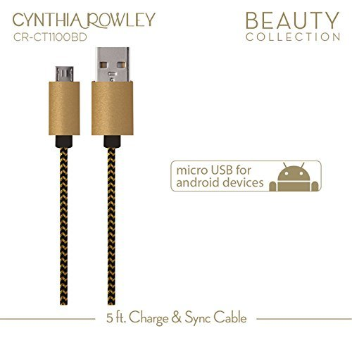 Cynthia Rowley Micro USB Cable for Android - Black by Cynthia Rowley