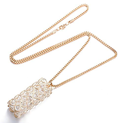 - Sterling Silver Earrings Choker Necklace Geometric Glass Female Popular Zinc Alloy Cable Chain Pendant Necklace Crystal Alloy Necklace Item Jewelry Pendant Rectangular Column Necklace, LOt, Rose go
