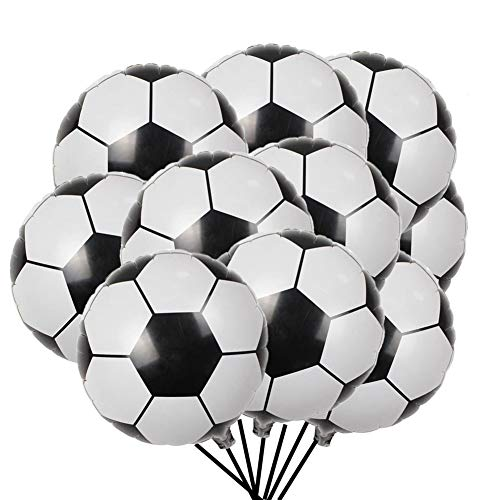 20pcs Soccer Balloons Aluminum Foil Football Balloon for Birthday Sporty World Cup Sport Party 48cm/18