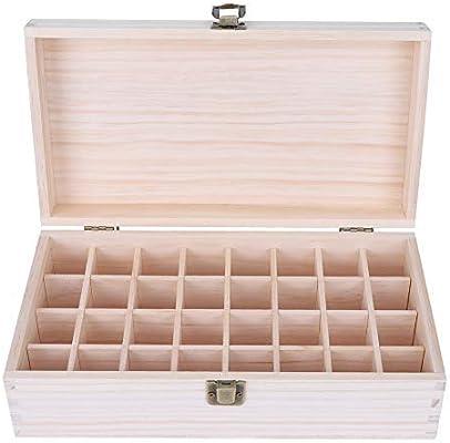 Aromaterapia Caja Aceite Esencial 32 Agujeros Profesional Maquillaje Case - Organizador con Hebilla para Viajes y Presentaciones: Amazon.es: Salud y cuidado personal