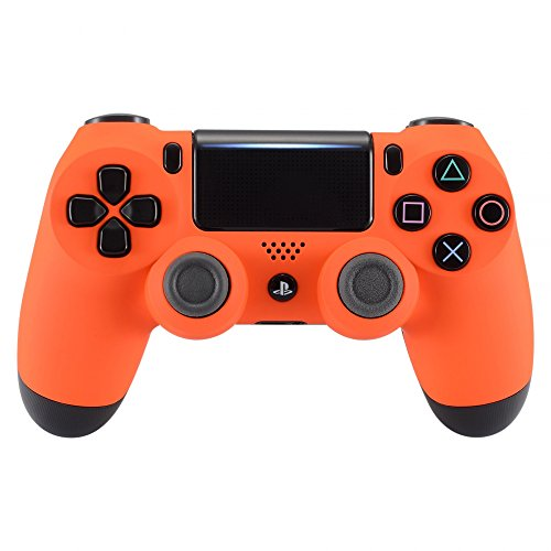 eXtremeRate Soft Touch Grip Orange Front Housing Shell Faceplate for Playstation 4 PS4 Slim PS4 Pro Controller (JDM-040)
