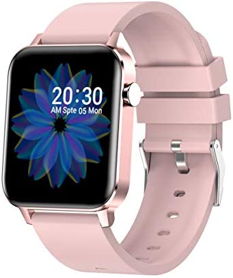 Sysmarts Smart Watch (Pink, Waterproof), Tracker with Heart Rate Monitor Sleep Compatible Phone