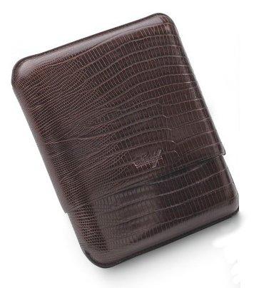 R-5 Lizard Brown Cigar Case
