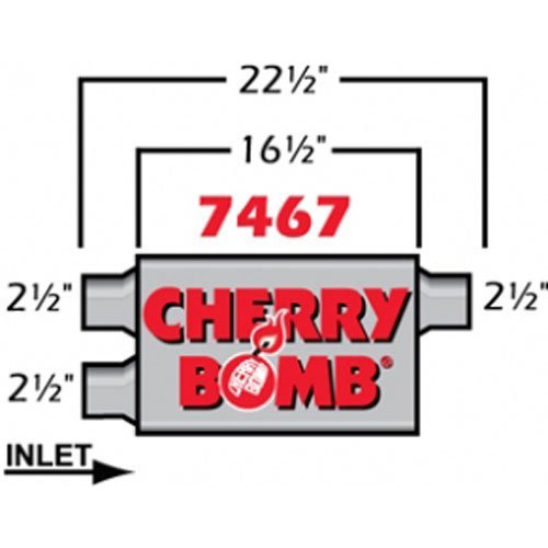 Cherry Bomb Pro Muffler - Cherry Bomb 7467 Pro Muffler