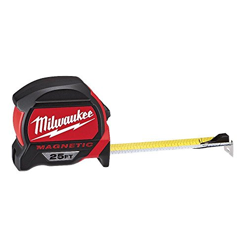 Milwaukee 48-22-7125 Magnetic Tape Measure, 25 ft, 1 Pack, Red
