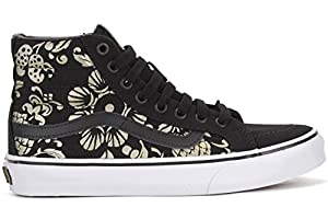 3. Vans Unisex Shoes SK8-Hi Slim Classic 50th Anniversary Black with Gold Sneakers