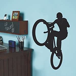 Mountain bike bicycle ride hill sport sports decal wall for 70 bike decoration