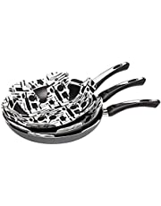 Wiltshire Pot and Pan Protector Set, cookware Protectors, Scratch avoiding Pot and pan dividers, Protect Surfaces for saucepans (Colour: White, Black), Quantity: 1 Set, 3 Pieces