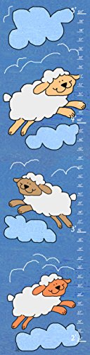 Green Leaf Art Growth Chart, Sheep and Clouds