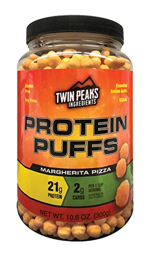 Twin Peaks Ingredients Protein Puffs - Margherita Pizza 300g (10 Servings), 21g Protein, 2g Carbs, 120 Cals, High Protein, Low Carb, Soy Free, Gluten Free, Potato Free - Best Protein Snack by Twin Peaks Ingredients (TPI) (Image #7)