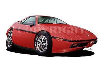 Amazon.com: Fiero Pontiac WALL DECAL 2ft long Sport Luxury ...