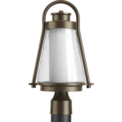 Progress Lighting P6405-20 Regatta Collection 1-Light Post Lantern, Antique Bronze from Progress Lighting