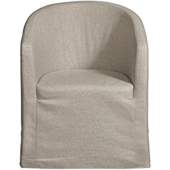 Amazon Com Home Fare Slipcover Barrel Back Chair With