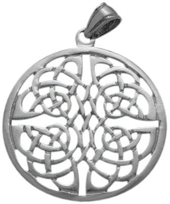 Large Fancy Sterling Silver Celtic Knot Pendant