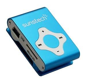 Sunstech GRECO Reproductor de MP3 4GB Azul, Blanco - Reproductor MP3 (Reproductor de MP3, 4 GB, 3.5mm, 16 g, Azul, Blanco, Auriculares incluidos)