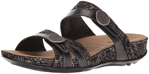 Juras Fidschi Sandal 22 5 black Black dress 5 5 US M Women's Kombi ROMIKA EU 36 5Sq4CZEnw