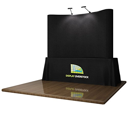 8' TABLE TOP TRADE SHOW DISPLAY POP UP DISPLAY EXHIBIT BOOTH **BLACK** by Display Overstock