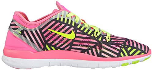 Nike Free Trainer 5 Print 704695 Damen Hallenschuhe Pink (Pink pow/volt-black 600)