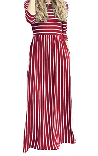 Dress Women Evening Stripe Hem Coolred Big Wine Party Red Fairy Stylish Sexy zwgqqnWTf
