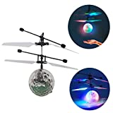 mancao Infrared guided flying flash Disco colorful LED ball helicopter children's toys