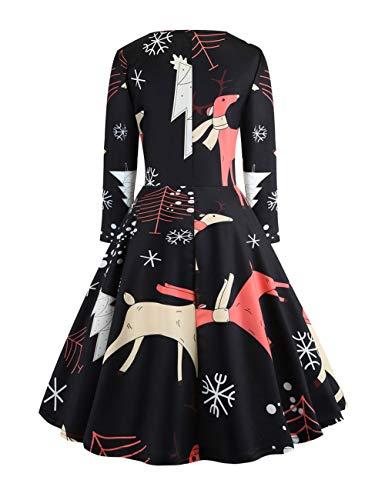 Classique Fille xxl Noel Carreaux Feelingirl Rouge S De A Robe Femme wPpnq0FR