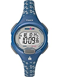 Timex Women's TW5M07100GP Ironman 10-Lap Mid Size Blue Dial Wrist Watch