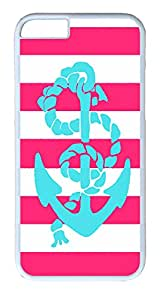 "ICORER Advanced iPhone 6 Case, Pink And Teal Anchor Custom Case Cover for Apple iPhone 6 4.7"" PC White (Hard Plastic Case)"